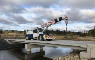 Completed Wellingrove Crk Bridge RMS CBS Design - Single Lane Dual Span